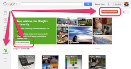 Crea una community su Google+