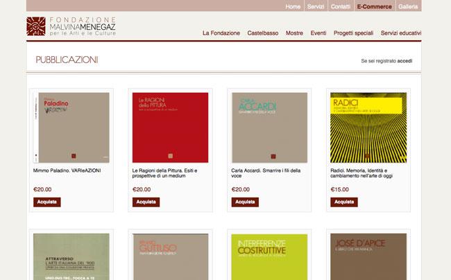 Realizzazione portale ecommerce fondazione menegaz