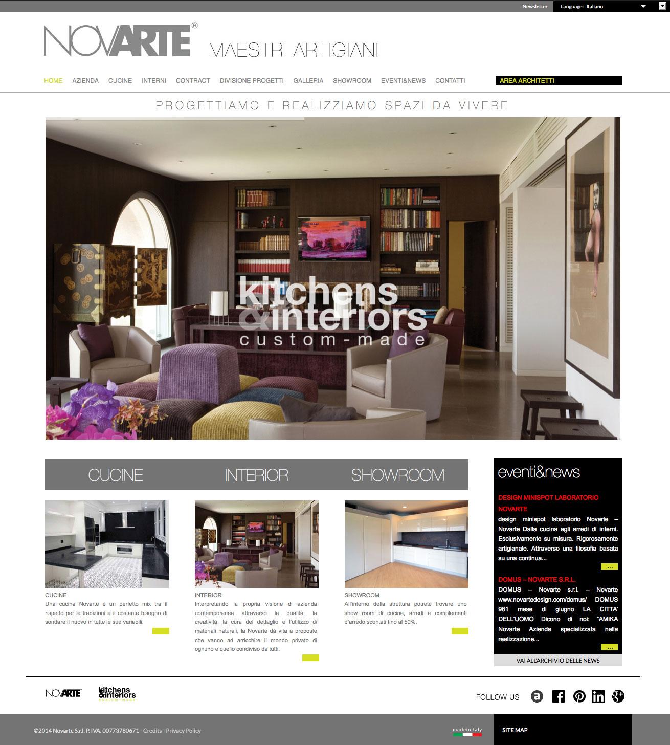Realizzazione sito web per l 39 azienda novarte di teramo for Sito web di progettazione edilizia