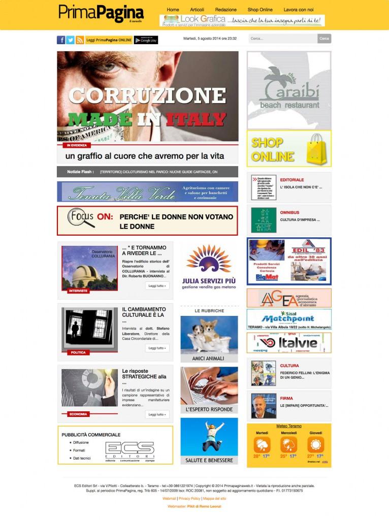 ceazione sito web primapagina