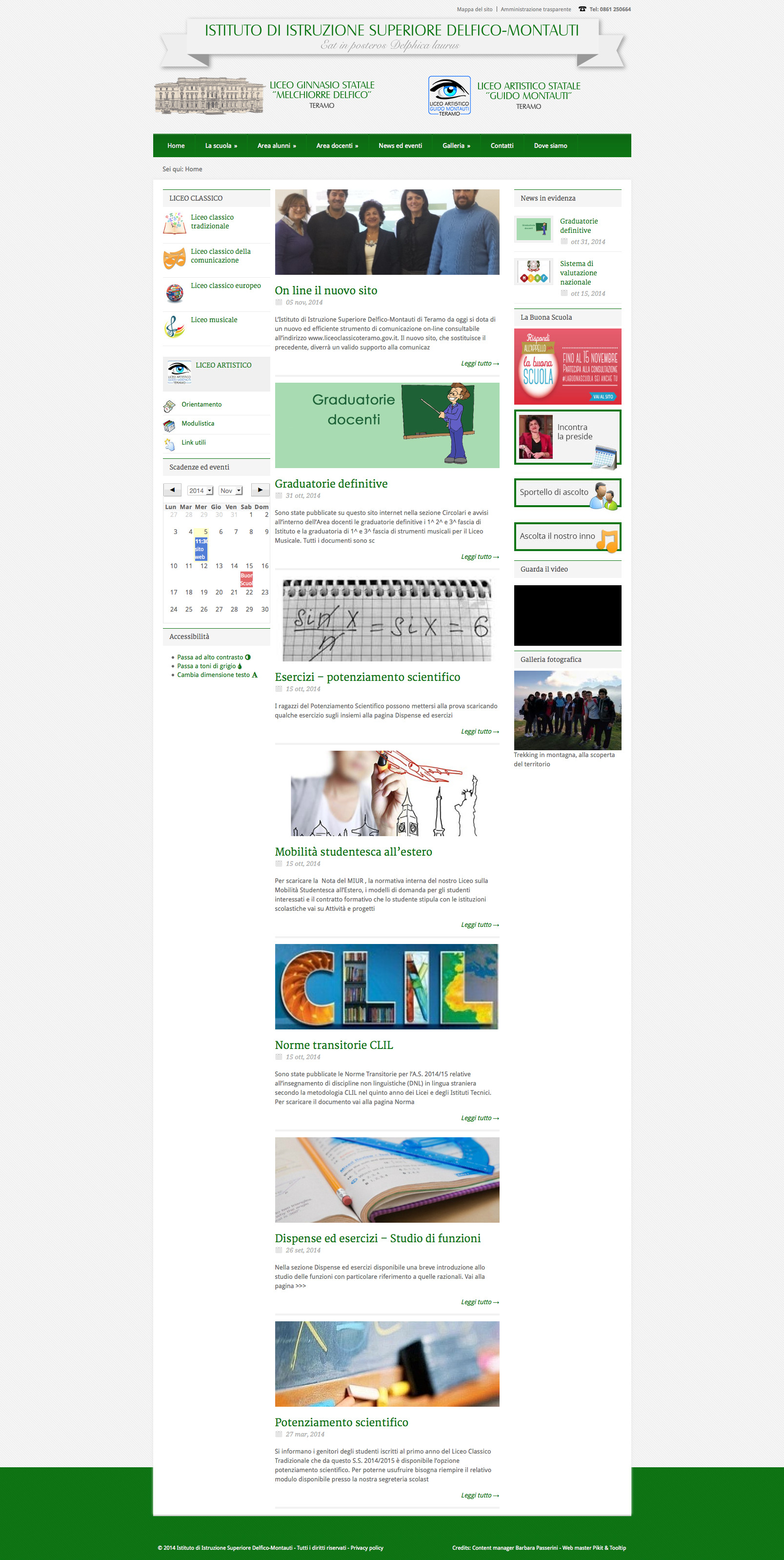 Realizzazione sito web scuola Liceo Classico